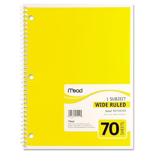 043100055105 - Mead Spiral 1-Subject Wide-Ruled Notebook, 1 Notebook, Color May Vary, Assorted Colors  (05510) carousel main 6