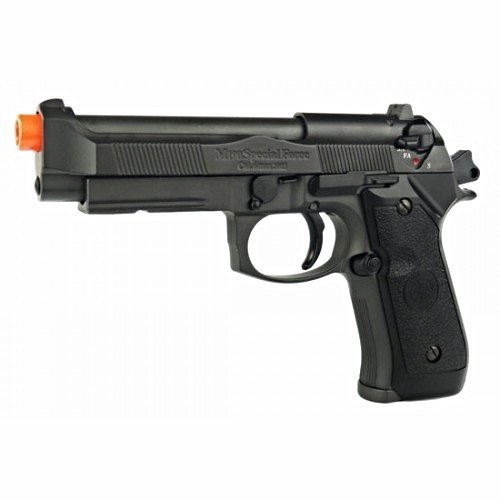 gas powered hfc hg 190 airsoft m9 military replica gas bb gun with tactical sight metal magazine airsoft semi and fully automatic(Airsoft Gun) by HFC