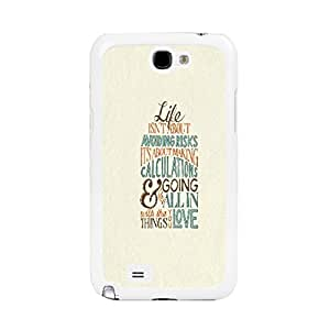 Back Hard Bumper Protective Skin Case for Samsung Galaxy Note 2 N7100 Custom Design Plastic Phone Cover (quotes of life BY528)