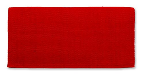 Show Saddle (Mayatex San Juan Solid Saddle Blanket, Show Red, 36 x 34-Inch)