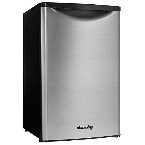 Danby Compact Refrigerator Silver DAR044A6BSLDB