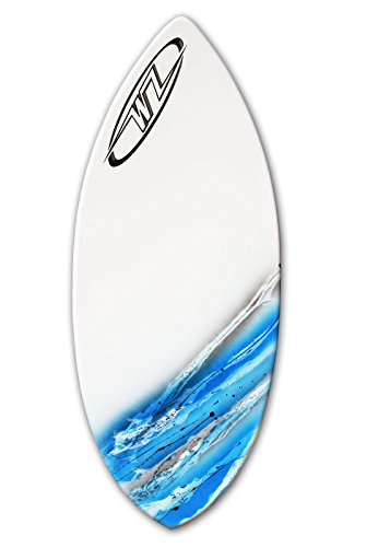 Wave Zone Glide - 48'' Fiberglass Skimboard for riders up to 160 lbs - Blue by Wave Zone Skimboards