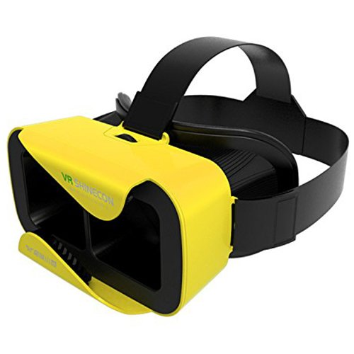 "GooDGo® Shinecon 3 VR 3D Virtual Reality Glasses Headset W Adjustable Head Band Strap for 4.7"" to 6.0"" Inches Smartphones (Yellow)"