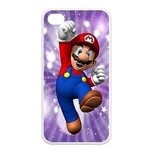 Mystic Zone Cute JPN Cartoon Super Mario Case for iPhone 4 4S TPU Back Fits Case KEK1551