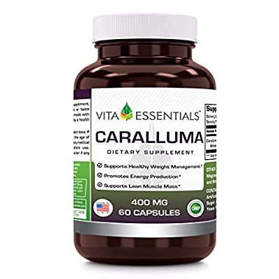 Vita Essentials Caralluma 400 Mg Capsules, 60 Count