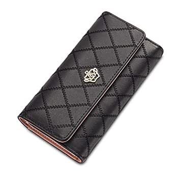Baellerry Black Leather For Women - Trifold Wallets