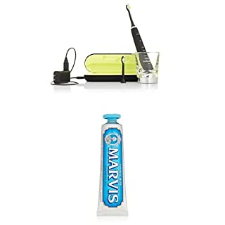 Philips Sonicare DiamondClean Sonic Electric Toothbrush, Black and Marvis Aquatic Mint Toothpaste, 3.8 Oz. (B01DJNT8RU) | Amazon price tracker / tracking, Amazon price history charts, Amazon price watches, Amazon price drop alerts