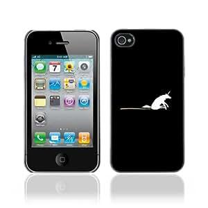 Designer Depo Hard Protection Case for Apple iPhone 4 4S / Unicorn Rainbow