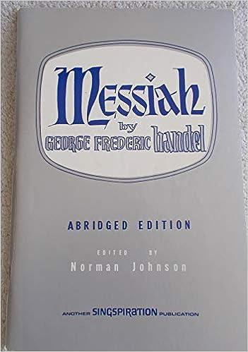 Handel's Messiah (SATB - Abridged Edition, Sheet Music Book