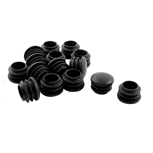 Chair Table Legs 22mm Diameter Plastic Cap Round Tube Insert 15 Pcs by uxcell (Image #1)