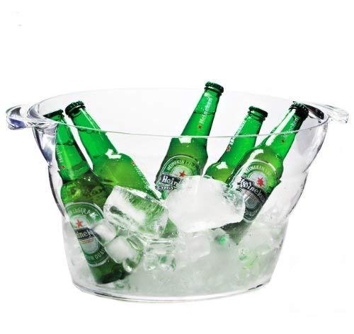 Felli- Crystal clear acrylic Iceberg party tub with handle. 14L/473oz. (U364461)