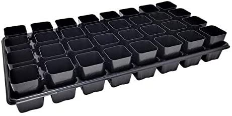 Extra Strength 32 Cell Seedling Starter Trays w Inserts, 5 Pack, for Seed Germination, Plant Propagation, Soil Hydroponics, Growing Trays, Planting Starter Plugs by Bootstrap Farmer