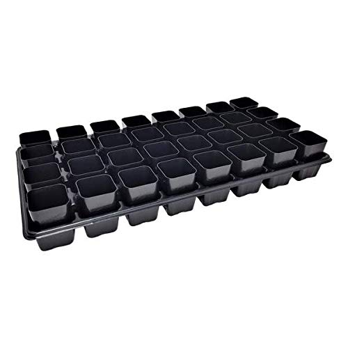 Extra Strength 32 Cell Seedling Starter Trays w/Inserts, 5 Pack, for Seed Germination, Plant Propagation, Soil & Hydroponics, Growing Trays, Planting Starter Plugs by Bootstrap Farmer