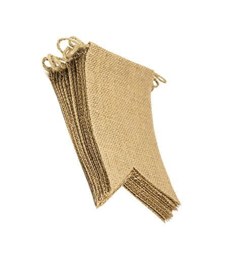 15 Flags DIY Burlap Banner kit, DIY Wedding Banner, DIY Burlap Bunting, Design Your Own Banner, - Diy Flag