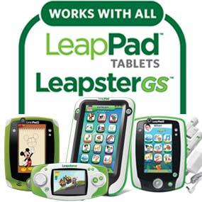 Works with all LeapPad tablets and LeapsterGS.