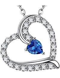 October Birthstone Jewelry Tourmaline Heart Necklace...