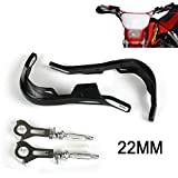 "22mm 7/8""Handlebar Hand Guards Handguards safe for Motorcycle motocross Handle Protector Alloy Insert For Dirt Pit Bike off Road ATV Quad(Black)"