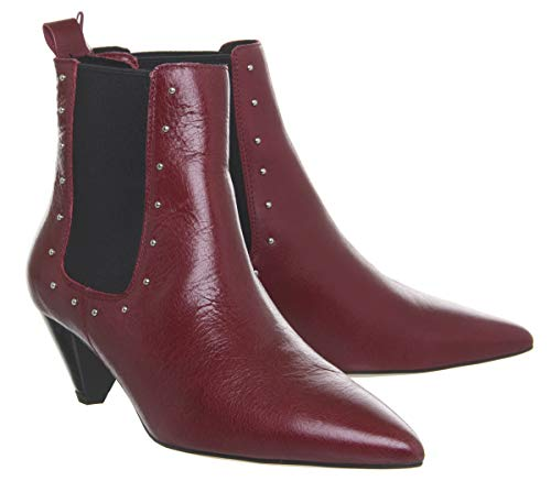 Cone Red Boots Heel Office Leather Arty Chelsea Rq8gwg
