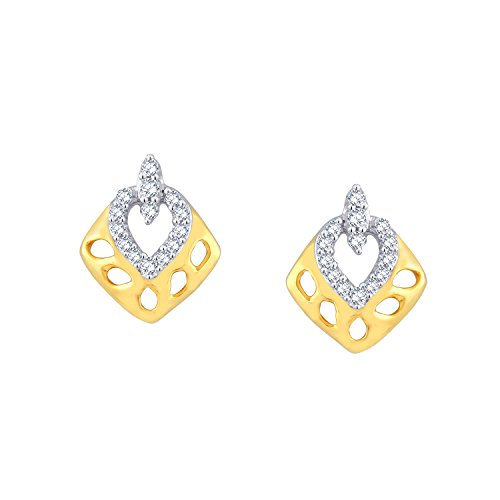 Giantti 14 carats Diamant pour femme Boucles d'oreille à tige (0.1344 CT, VS/Si-clarity, Gh-colour)