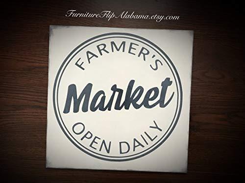 Cartel con Texto en inglés Farmers Market Sign Farmhouse ...