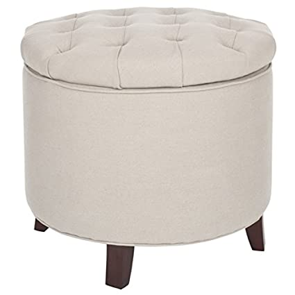 Safavieh Amelia Tufted Storage Ottoman Beige  sc 1 st  Amazon.com & Amazon.com: Safavieh Amelia Tufted Storage Ottoman Beige: Kitchen ...
