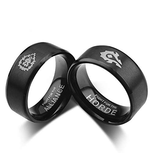 Excow-Jewelry-World-of-Warcraft-Alliance-Horde-Sign-Game-Ring-Stainless-Steel-Band