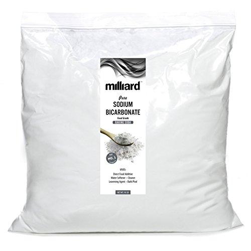 Milliard Sodium Bicarbonate USP - 10 Pound Bulk Resealable Bag (AKA Baking Soda/Bicarbonate of Soda)