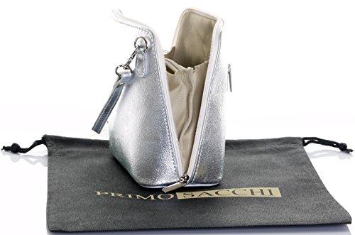 peinte italien marque en de de Sacchi un ou cuir main protecteur à sac bandoulière rangement à Silver Primo la de sac main Petit sac nbsp;Comprend zqgqZO