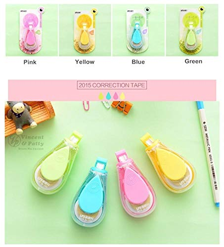 12 pcs/Lot Macaron color Water drips Correction tape LPS tapes stationery corretivo escolar fita Office supplies by PomPomHome (Image #2)