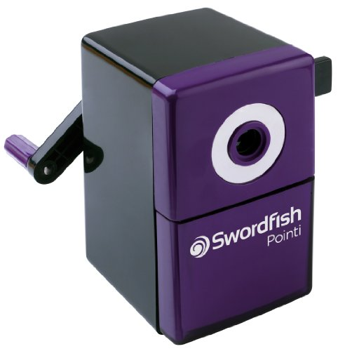 (Swordfish 'Pointi' 8mm Desktop Manual Pencil Sharpener Ref: 40235)