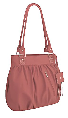 Womens HandBag Salmon HandBag Faux Leather Leather Faux EyeCatchBags Womens Galaxia Galaxia Pink EyeCatchBags Salmon gSZAwSq