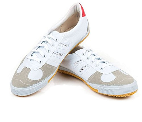 OSdream Canvas Kung Fu Shoes (White, 46 (US Men 12))
