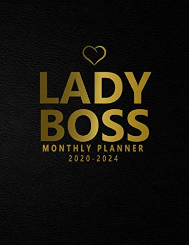 Lady Boss 2020-2024 Monthly Planner: Black Velvet 5 Year Monthly Organizer & Schedule Agenda with 60 Months Spread View. Five Year Calendar with … Quotes, Notes, To Do's & Vision Boards.