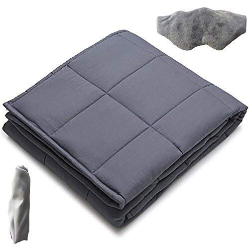 Isla° Weighted Blanket Set| Adult|3PC |100% Cotton|60x80'' 20LBS, Stress &...