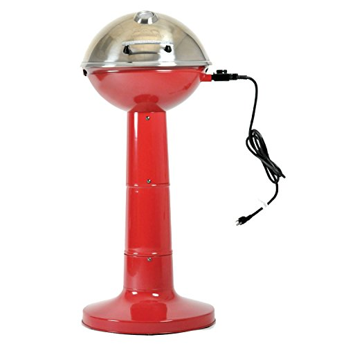 Masterbuilt Verdana Outdoor Patio 18 Inch 1650W Electric Pedestal Grill, Red by Regalo (Image #1)'