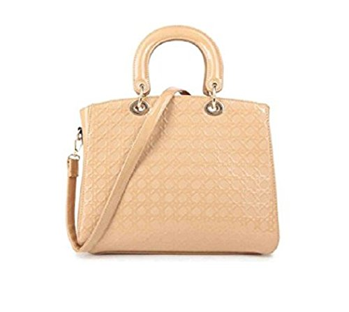 LeahWard Large Snake Skin Tote Shoulder Bag For Holiday College School Shopping APRICOT TOTE