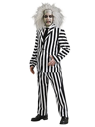 [Deluxe Beetlejuice Costume - Standard - Chest Size 46] (Kids Deluxe Beetlejuice Costumes)