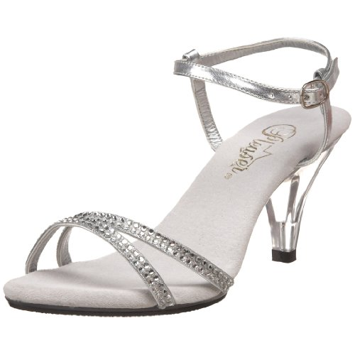 Pleaser Women's Belle 316 Sandal,Silver/Clear,7 M US (Pleaser Belle)