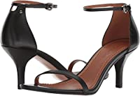 Coach Heeled Sandal Black Leather 8.5