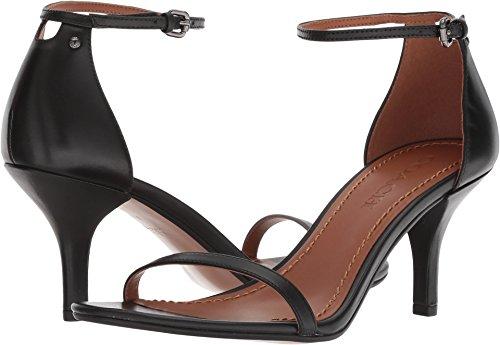 Coach Women's Heeled Sandal Black Leather 7 M US