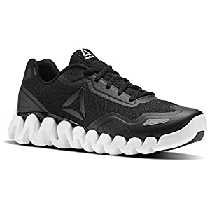 Reebok Mens Zigpulse Running Shoe (10.5 D(M) US, BLACK/WHITE)