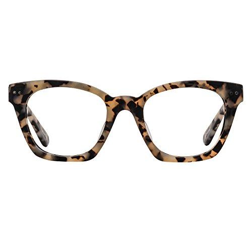 BLUEref Skylar Blue Light Blocking Glasses, Improves Sleep Quality, Prevents Headaches, Improves Concentration, Cateye Glasses, Reduces Digital Eye Strain, Reduces Fatigue, Tortoise Retro - Blue Acetate