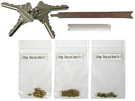 Schlage SC Compatible Keyway Rekey Kits Rekeying Set 4 SC1 Keys 5 Pins 8  Locks Locksmith by eBuilderDirect