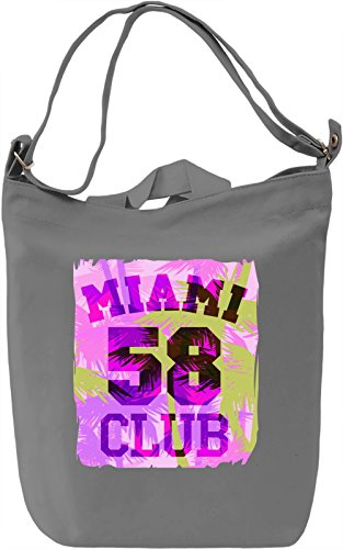 Miami Club 58 Borsa Giornaliera Canvas Canvas Day Bag| 100% Premium Cotton Canvas| DTG Printing|