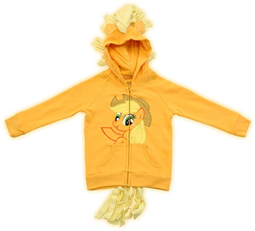 Rarity Equestria Girls Costume (My Little Pony Hoodie Applejack Girls Orange Costume Sweatshirt (4))