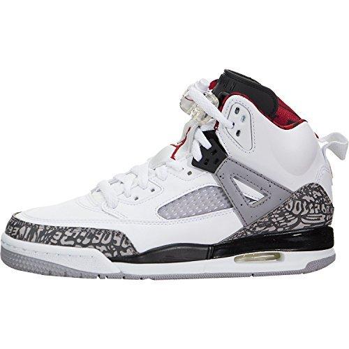 Jordan Nike Air Spizike BG Big Kid's Basketball Shoes White/Cement Grey, - Big Basketball Shoes Kids Jordan