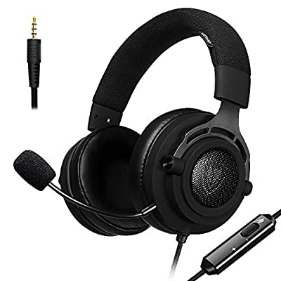 NUBWO N9 HyperFabric Gaming Headset, Detachable Microphone w/ 3.5mm Volume Control, Breathable Earcups, Premium Headband, for PS4, Xbox One, Nintendo Switch, Mac, PC, Computer, Skype