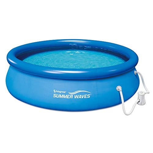 Summer Waves 10 Ft. Quick Set Inflatable Above Ground Pool with Filter Pump ()