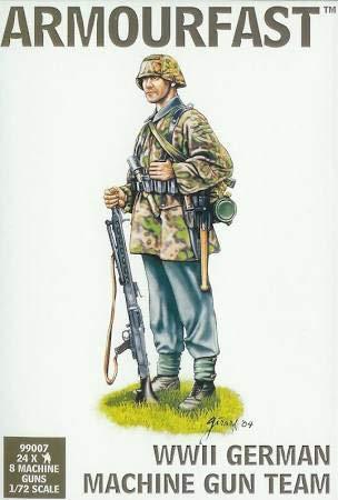Armourfast WWII German Machine Gun Team (24 & 8 Guns) -