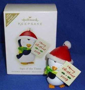 2009 Ornament - Hallmark Keepsake Ornament - Sign of the Times EXCLUSIVE VIP GIFT 2009 (AD4325)